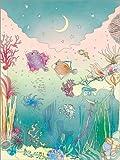 Posterlounge Acrylglasbild 100 x 130 cm: Unter dem Meer von Ella Tjader - Wandbild, Acryl Glasbild, Druck auf Acryl Glas Bild