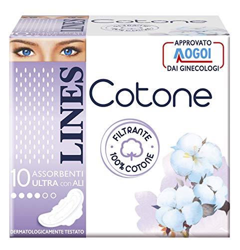 Lines cotone ultra con ali, 60 assorbenti
