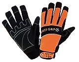 KERMEN.EU Winter-handschuh POWER GRIP Sicherheitshandschuhe schwarz/orange - Neoprene - Größe: 10
