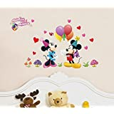 DreamKraft Home Decor Decal Style Mickey Mini Cartoon Wall Sticker Wall Poster (PVC Vinyl, 76 X 121 CM)