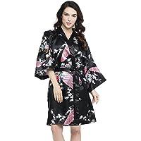 Indische Mandala Baumwolle Lange Kimono Hippie Kleid Bademantel