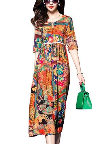 biilyli-2017-damen-sommer-1-2-armel-retro-seide-print-kleid-xxl44-blume-farbe