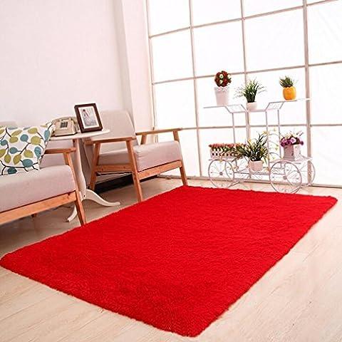 Kingko® 50 x 80cm Fluffy Rugs Anti-Skid Shaggy Area Rug Dining Room Home Bedroom Carpet Floor Mat Home Decor (Hot