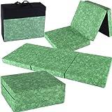 Colchón Cama Plegable Portable con Bolsa - 190x80x10cm - verde