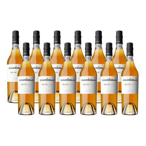 Portwein Churchills Dry White 500ml - Dessertwein - 12 Flaschen