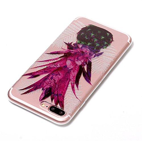 Per iPhone 7 Plus Cover , YIGA Moda Campanula piuma Cristallo Trasparente Silicone Morbido TPU Case Caso Shell Protezione Copertura Custodia Copertina per Apple iPhone 7 Plus (5.5) XS61