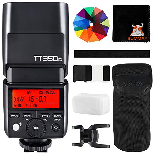 GODOX TT350O Mini Kamera Blitzgerät 2.4G HSS 1/8000s TTL GN36 Blitz Speedlite für Olympus Panasonic Kameras 20 Farbfilter