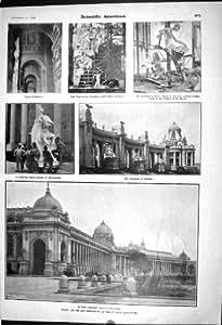 Un Portico Ionico di 1903 dell'Americano dell'Esposizione Scientifica di St. Louis Statue della Colonnato