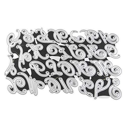 Xurgm - Fustelle a forma di lettera, per scrapbooking, per decorazioni natalizie