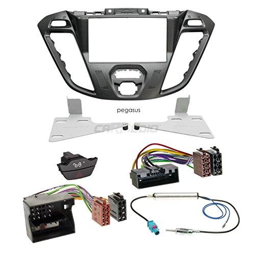 Preisvergleich Produktbild Ford Transit Custom FCC ab 12 2-DIN Autoradio Einbauset in original Plug&Play Qualität mit Antennenadapter, Radioanschlusskabel, Zubehör und Radioblende/Einbaurahmen Pegasus