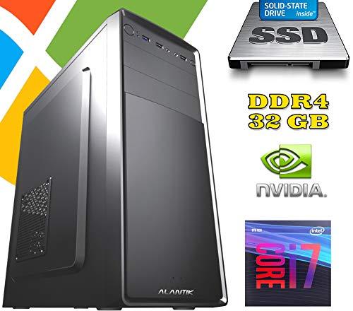 PC Computer FISSO AGM i7-9700 DESKTOP / RAM 32GB DDR4 / Nvidia GT1030 2GB / SSD 480GB - Hard Disk 1TB / WI-FI/LICENZA WINDOWS 10