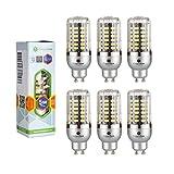 6× GreenSun 5W GU10 LED Energiespar Mais Birnen SMD 5736 Hochleistungs Lampen warmes Weiß Wechselstrom 85-265V 450 Lumen 35W Glühlampe Equivalent
