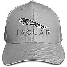 Hittings Jaguar Logo Adjustable Snapback Peaked Cap Baseball Hats Ash