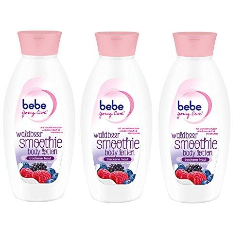 bebe Young Care Waldbeer Smoothie Body Lotion / Feuchtigkeitsspendende Körperpflege mit fruchtigem Duft und Shea Butter für trockene Haut...
