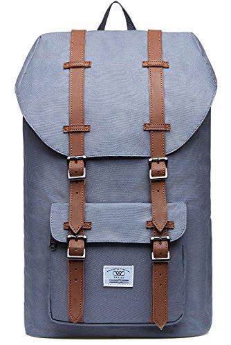 Laptop Rucksack Damen Herren Backpack 17 Zoll Lässiger Schulrucksack WIN·DF Daypacks Stylish Rucksäcke Für Wanderreise Camping Fit für 15