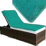 JEMIDI Frottee Schonbezug für Gartenliege oder Massage / Relaxing Liege Bezug Strandliege Liegenbezug Auflage Liege (Türkisgrün)