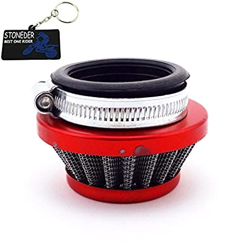 Stoneder 44 mm Rouge Racing Air Cleaner filtre pour moteur 2 temps 47 cc 49 cc Carburateur Carb Quad ATV Dirt Pocket bike Mini moto