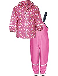 Playshoes Waterproof Rainsuit Stars, Impermeable Para Niños
