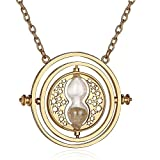 #8: YELLOW CHIMES Harry Potter Time Turner Golden Pendant for Boys and Girls