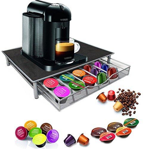Homezone Nespresso Dolce Gusto Kaffeemaschine Ständer und Kaffeepad Kapsel-Halter - 36 Kapseln...