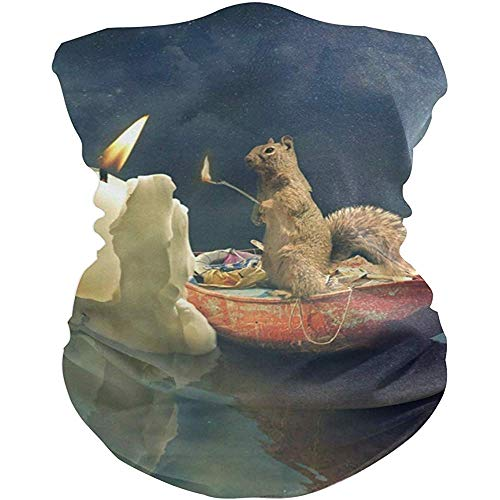 Regan Nehemiah Fascia per Capelli Fazzoletto di luci Candela Scoiattolo Copricapo Sport Turbante/Fazzoletto/Fascia per Felpe per attività all'aperto Unisex