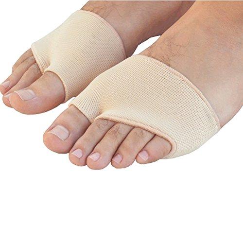 Pixnor Gel-Metatarsale-Ball Fuß paar Gel Vorfuß Metatarsale Pain Relief Absorber Polsterkissen - L