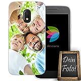 dessana Eigenes Foto transparente Schutzhülle Handy Tasche Case für Motorola Moto G4 Play