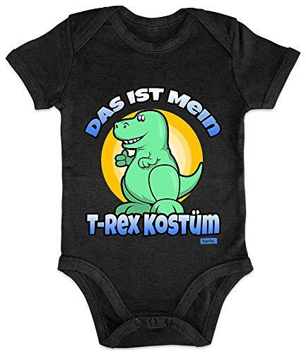 HARIZ Baby Body Kurzarm Das Ist Mein T Rex Kostüm Karneval Kostüm Plus Geschenkkarten Pinguin Schwarz 3-6 ()