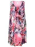 Alba Moda Damen Kleid Webware in Doppeloptik 40