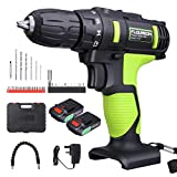 FLOUREON 21V Cordless Drill Driver Kit Cordless Electric Drill with 2 Batteries 1500mAh
