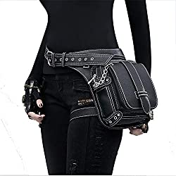 Peggy Gu Steampunk VTG Paquete de Bolso de Cintura de la Pierna de la Gota Multifuncional Cinturón de Cadera Fanny Messenger Bag Bolso Monedero de telefono