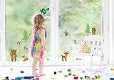 Waldtiere Tiere Fenstersticker Fensteraufkleber F047