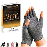 SyeJam Rheumatoid Arthritis Gloves Fingerless- Warmth Therapeutic Compression Gloves for Pain Relief- Support