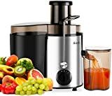 Aicok Juicer Juice Extractor Whole Fruit Juicer High Speed for Fruit and Vegetable Dual Speed Setting Centrifugal Fruit Machine Powerful 400 Watt with Juice Jug and Cleaning Brush, BPA Free