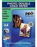 PPD DIN A4 Inkjet Qualitäts-Fotopapier beidseitig matt beschichtet 210g, DIN A4 x 50 Blatt PPD045-50