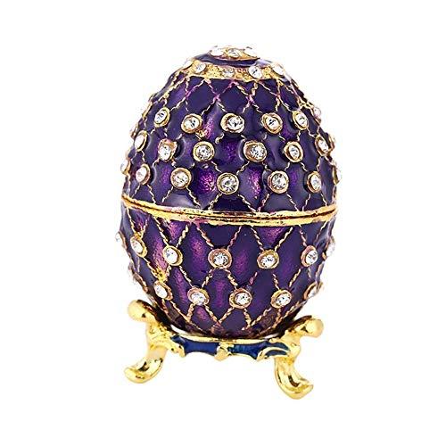 chen Große Faberge Jeweled Schmuckstück Osterei Schmuck Ring Box russische Handwerk Ostern Hochzeit Geburtstag Weihnachtsgeschenk ()