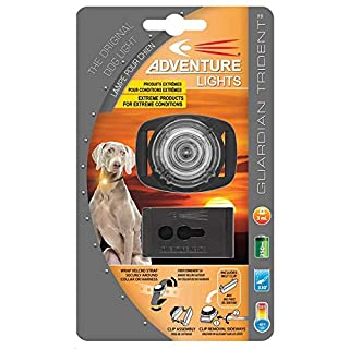 Adventure Lights Guardian Trident Dog Light White Safety Collar Light Waterproof