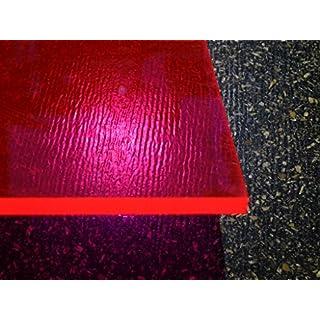 Platte Acrylglas GS, 500 x 500 x 3 mm, Fluoreszierend rot Zuschnitt alt-intech®
