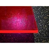Plaque acrylique fluorescent rouge 500 x 500 x 3 mm Plexiglas®