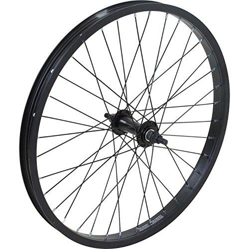 20 Zoll BMX Collective Laufrad schwarz vorne oder hinten + 9t Driver, Ausführung:Vorne