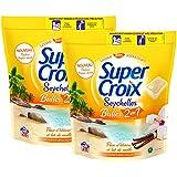 SUPER CROIX - Lessive liquide en doses avec adoucissant - Seychelles 2en1 - Boîte 28 caps / 28 lavages- Lot de 2