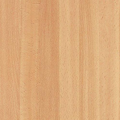 Selbstklebende Folie Klebefolie für Möbel Küche Tür & Deko Möbelfolie Fototapete Holzoptik versch. Dekore & Breiten Länge: 5m - 10m - 15m inkl. Rohr-Trading.SURFACES Filzrakel I Holz hell - Buche geplankt [5m x 45cm]
