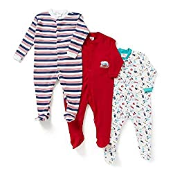 BABY SLEEP-SUITS RED PACK OF 3, 9-12MONTHS
