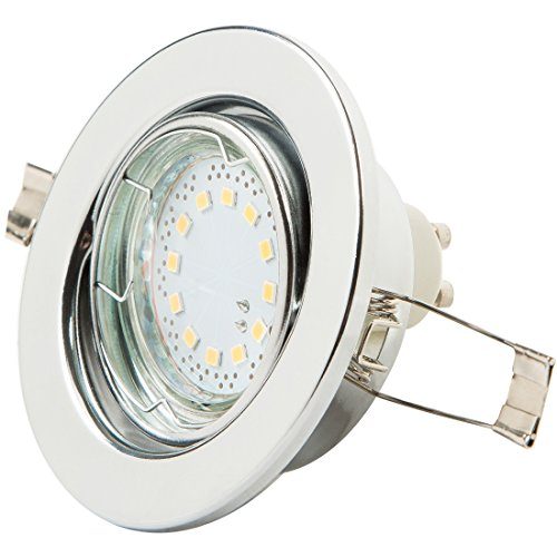 Reflector de techo LED de Levivo, blanco cálido, con 12 LED SMD...