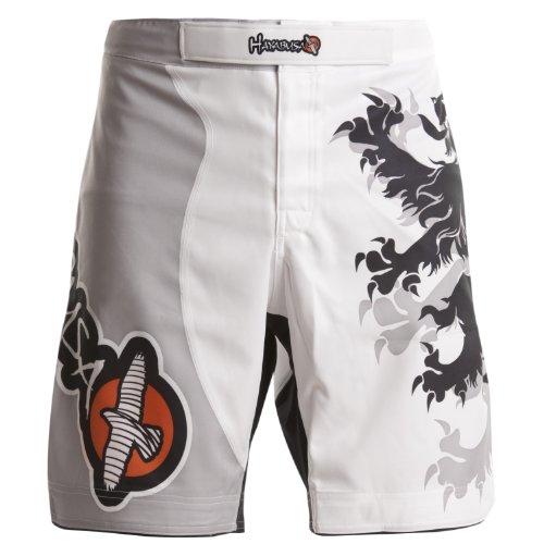 Hayabusa Alistair Overeem Signature Fight Shorts, Herren, weiß, 34-Inch/Large -