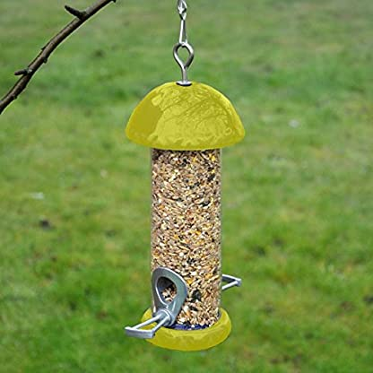 Kingfisher BFC2 Glazed Ceramic Bird Seed Feeder - Yellow 2