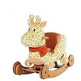 Labebe - Plüsch Schaukelpferd - Dual-use Giraffe mit Räder