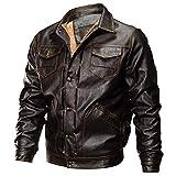 TWBB Herren Bekleidung Mantel Winter PU Verdicken Plus Samt Warme Pullover Outwear Einfarbig Oberteile Mit Knopf
