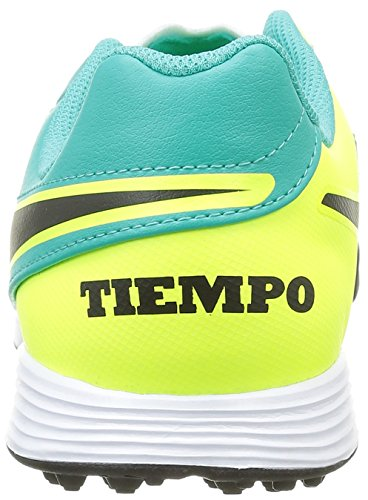 Nike Jr Tiempox Legend Vi Tf, Chaussures de Foot Mixte Bébé, Blanc, 36 EU Turquoise (Türkis/Gelb/Schwarz/Weiß)