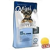 HAPPY DOG Mini Baby & Junior HDBJ + BALL Gratis Hundefutter Ab der 4.Lebenswoche Kleine Rassen (4 kg)